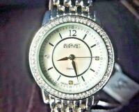 """August Steiner Swiss Quartz Wrist Watch RRP $250 """"NOS"""" Women's Diamond"""