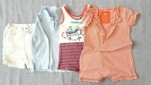 Lot Clothing Baby Boy 1 Shorts 1sweatshirt 2 Rompers Size 18/24 Month
