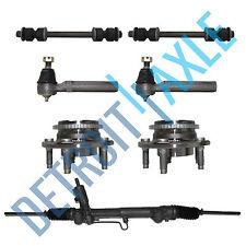 Steering Rack & Pinion + 2 Wheel Hub Bearing w/ ABS + 2 Tie Rods + 2 Sway Bar