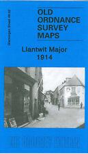 OLD ORDNANCE SURVEY MAP LLANTWIT MAJOR 1914