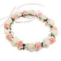 Ladies Romantic Flower Crown Wedding Girl Photography Hair Styling Garland