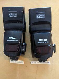 Two Nikon SB-800 Speedlight Flash (2 Flashes) for Parts/Repair