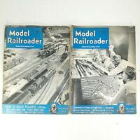 Model Railroader Magazine 1950 2 Issues August and December Kalmbach Trains