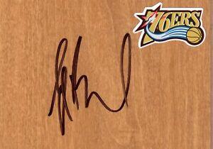 Philadelphia 76ers Elton Brand Signed Floorboard COA