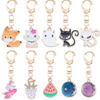 Animal Cute Cat Fox Mermaid Watermelon Keychain Key Ring Bag Pendant Phone DBDA
