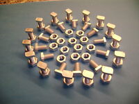 10 to 100 Greenhouse cropped  head 12mm aluminium bolts++  nuts (see  our clips