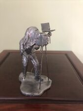 "Vintage Michael Ricker Pewter Old-Time Photographer Camer Man Figurine 5.5"" Tall"