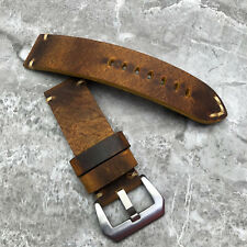 FOR Panerai PAM watches 26mm 24mm 22mm 20m Brown rustic Leather watch strap band