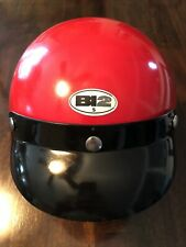 Vintage BI2 H1 Scooter Helmet & Visor made In Italy lightweight Red SZ SMALL