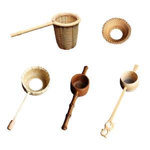 Bamboo Tea Strainer Infuser Kitchen Filter Mesh Colander Hand Made Tools