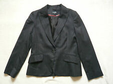 Hobbs charcoal grey fitted wool blazer/jacket with pinstripe VGC UK size 12