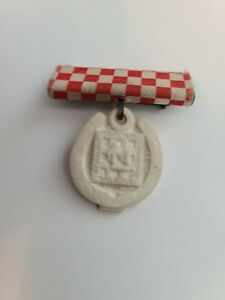 1945 TOM MIX Ralston Straight Shooter Service Ribbon & Medal pinback ..Excellent