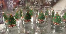 ��Vintage Christmas Tree Old Ol' Fashion Glasses Set of Four (4) Nice! Euc