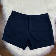 Madewell Womens Size 4 Deep Navy Tailored Shorts 100% Cotton Pockets