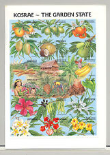 Micronesia #103 Food, Fruit, Flowers 1v M/S of 18 Imperf Proof Mounted in Folder