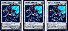 3 x Signal Warrior  DUPO-EN006  Ultra Rare  YuGiOh Cards