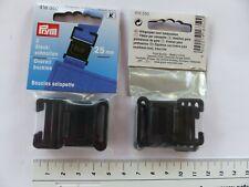Prym 416350 Steckschnallen 25mm Kunststoff schwarz 2 25 Mm