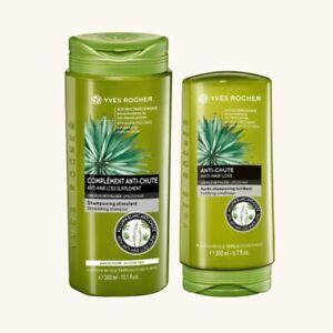 YVES ROCHER SET Hair Loss Stimulating Shampoo 300 ml &Bottle Hair Balm 200 m.NEW