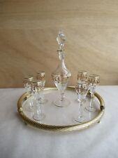Sherry Karaffe mit 6 Gläser Amphora Schweiz Versailles Schliffdekor Kristallglas