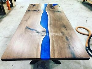 Epoxy Table, dining, sofa, center table top Live Edge Olive Table ,Custom Order