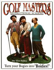 Three Stooges Golf Masters Tin Sign - 12.5x16
