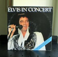 ELVIS PRESLEY/ELVIS IN CONCERT (with inserts) RCA 1st Pressing  2 LPs Very Good+