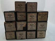 QRS Autograph Word Roll Player Piano Rolls Lot Vintage #435
