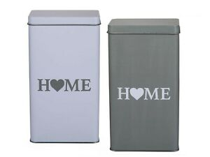 NEW HOME tins great for storing assorted items - tea coffee sugar food biscuits