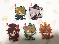 Code:Realize Anime Figure Keychain Rubber Strap Phone Charm Bag Pendant Key Ring