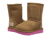 NEW UGG BOOTS INFANT TODDLER CLASSIC II CHESTNUT PINK AZALEA AUTHENTIC 1017703T