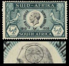 "SOUTH AFRICA 68b var - King George V Silver Jubilee ""Extra Hair Strand"" (pa17798"