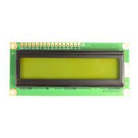 LCD 16x2 Display Green/Yellow 1602 optional header Arduino Rasp Pi UK Seller