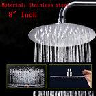 "Rainfall Rain Shower Head Atomizer Chrome Bathroom 8"" Round Stainless Steel"