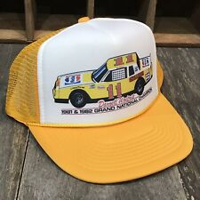 Pepsi Racing Team Vintage 80's Trucker Hat Nascar Darrell Waltrip Cap Yellow