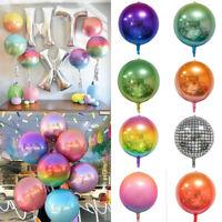 """22"""" Rainbow Gradient Disco Round Foil Balloon Baby Shower Wedding Party Decor ZP"""