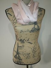 NWT Charming Charlie pink/silver lightweight casual scarf $14