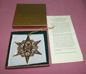 Metropolitan Museum of Art MMA 2008 Star Christmas Ornament