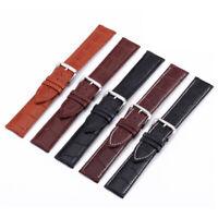 Genuine Leather Watch Band Pin Buckle Wristwatch Belt Watch Strap 18 20 22 24mm