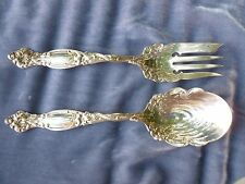 2 LARGE EARLY  HIGHLY ORNATE STERLING SILVER ART NOUVEAU SERVING PIECES #2