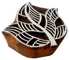 Leaf Shaped wooden block stamp Tattoo Handcarved India Textile Printing Block