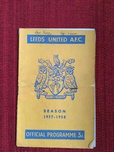 Leeds Utd v Burnley Programme, 22/3/1958