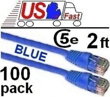 2ft RJ45 Cat5e Ethernet Cable//Cord//Wire {PURPLE {F Lot10 PURE COPPER! notCCA!