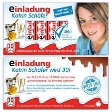 """personalisierte Einladungskarten Geburtstag """"Schokolade"""", nicht nur für Kinder"""