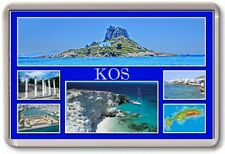 FRIDGE MAGNET - KOS - Large - Greece TOURIST