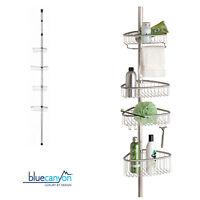 Shower Caddy Corner 4 Tier Shelf Rack Basket Bathroom Storage Anti-Rust Sturdy