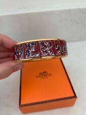GORGEOUS AUTHENTIC HERMES GOLD ENAMEL ALPHABET RUSSE BOX NOT INCLUDED