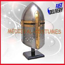 Medieval Knight Crusader Sugarloaf Helmet Armor New Costume