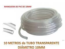 10 METROS TUBO 10MM TRANSPARENTE 10m Flexible No Tóxico Manguera De PVC Acuario