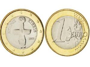 1€ pièce 1 Euro pays CHYPRE kibris idole pomos 2008 1ere carte EUROPE 12 étoiles