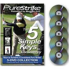 New PureStrike The 5 Simple Keys to Consistency by Medicus Golf 5 DVD Box Set